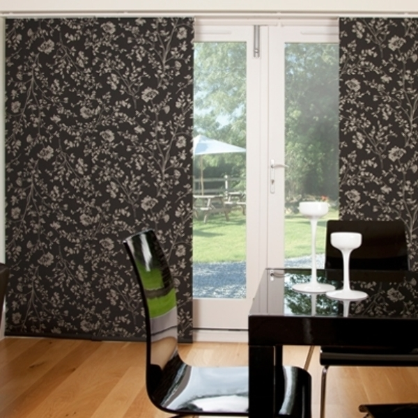 Panel blinds are perfect for patio doors