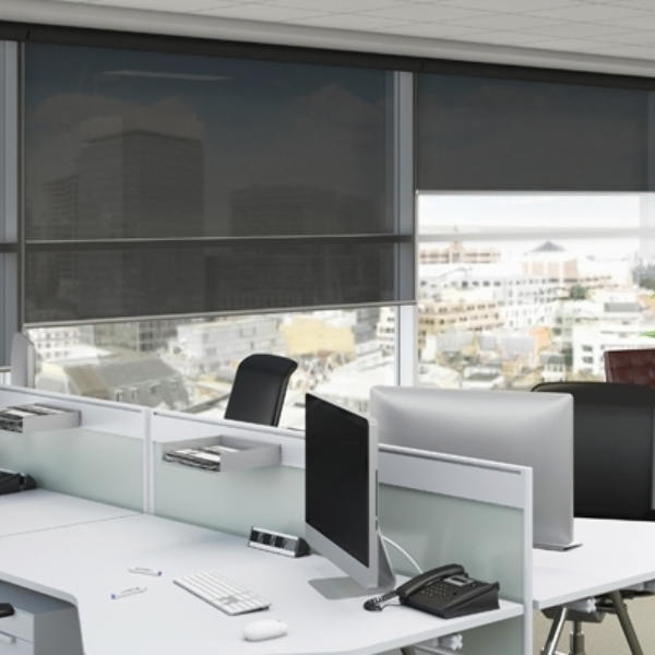 Translucent fabrics to reduce glare, great for offices