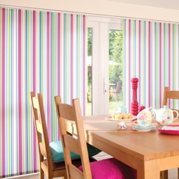 Panel blinds are ideal for large patio doors
