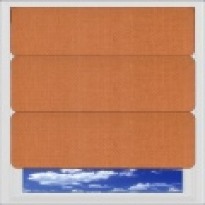 Orange and Terracotta Roman Blinds