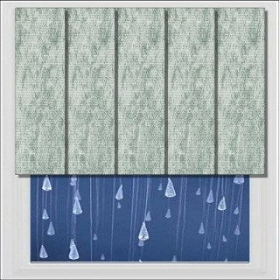Bathroom Vertical Blinds PVC Waterproof