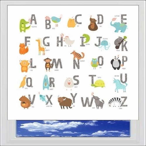 Alphabet Animals Digitally Printed Photo Roller Blind