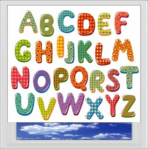 Alphabet Colours Digitally Printed Photo Roller Blind