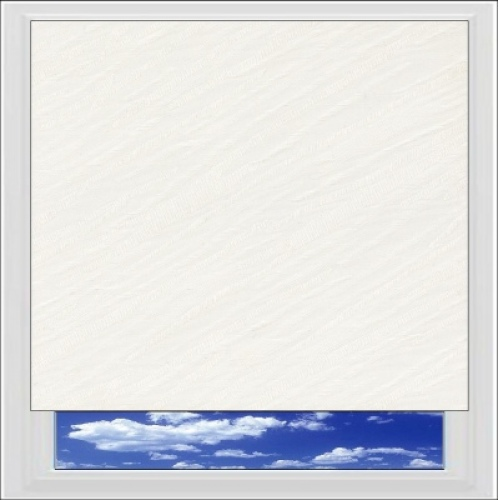Amaris White roller blind