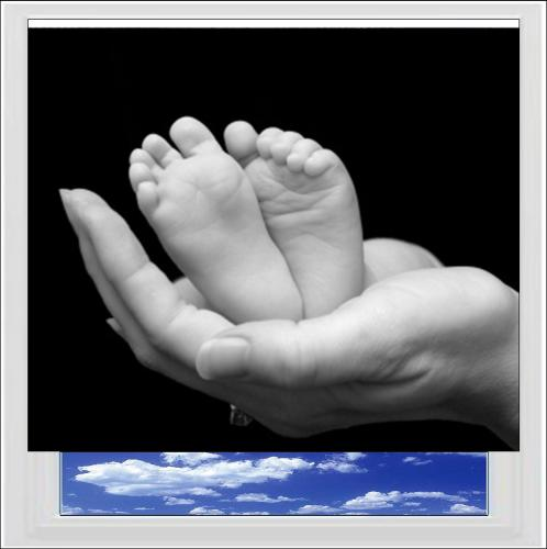Baby Feet Digitally Printed Photo Roller Blind