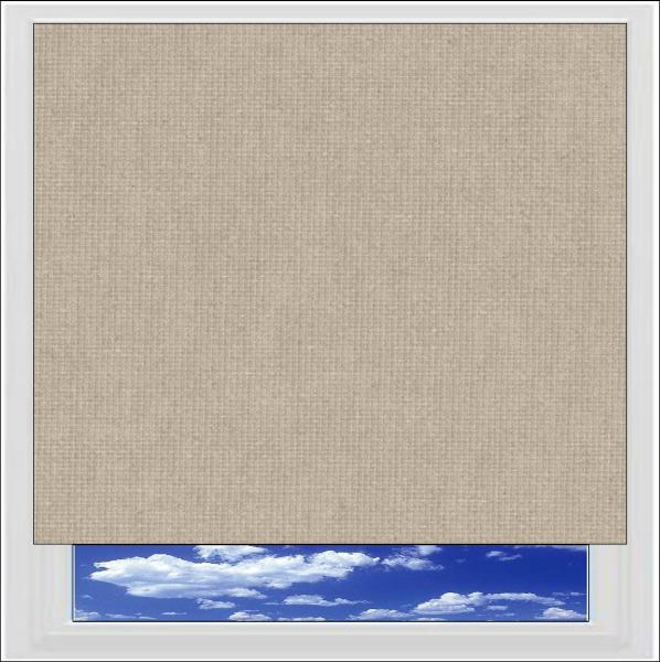 Bella Hessian blackout roller blind