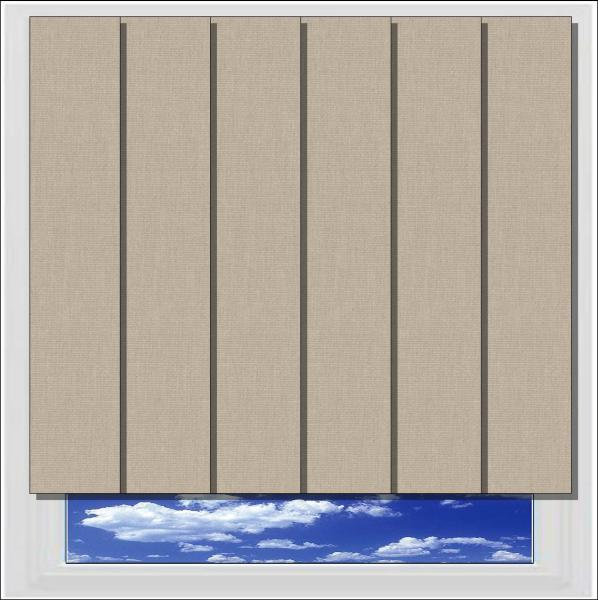 Bella Hessian blackout vertical blind