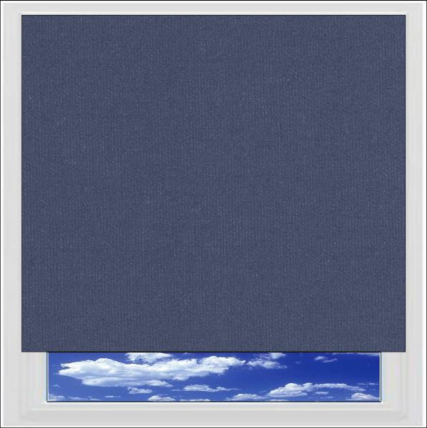 Bella Indigo blackout roller blind