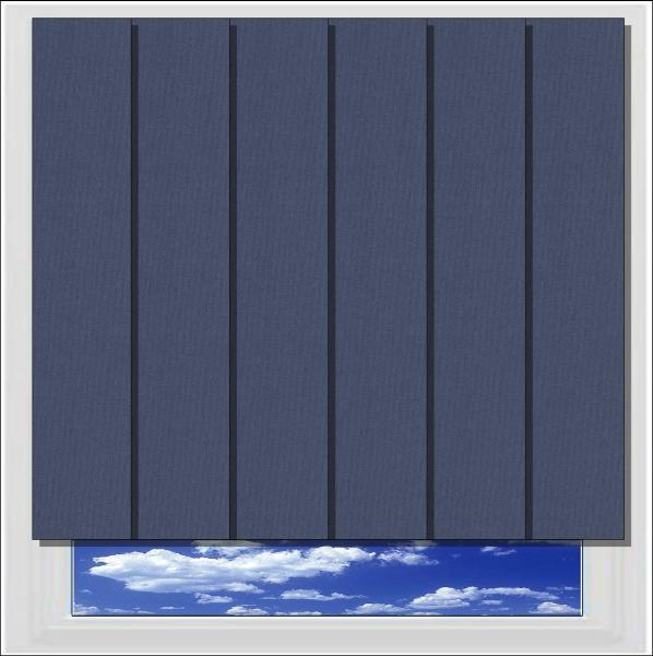 Bella Indigo blackout vertical blind