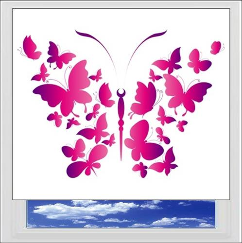 Butterflies Digitally Printed Photo Roller Blind