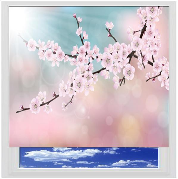 Cherry Tree Blossom Digitally Printed Photo Roller Blind