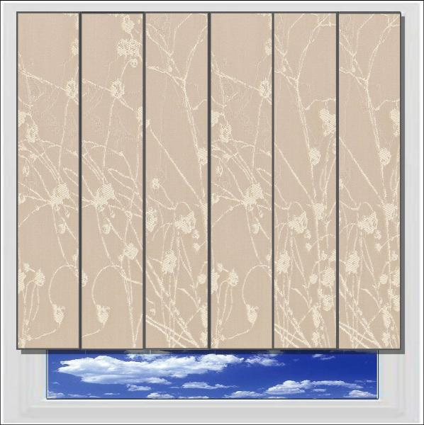 Collina Champagne Fizz blackout vertical blind