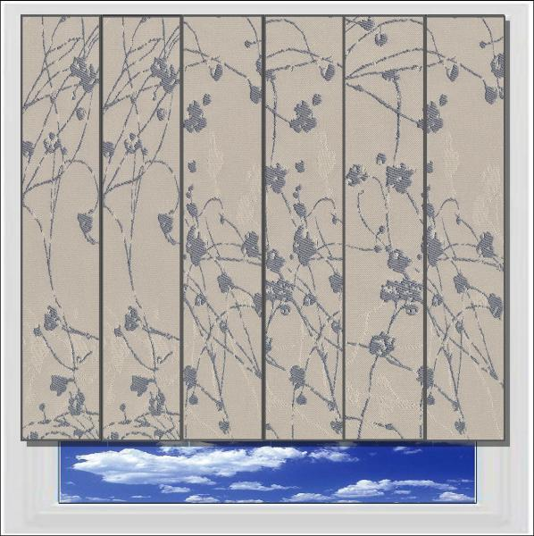 Collina Moonlight Mink blackout vertical blind