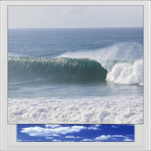 Crashing Waves Digitally Printed Photo Roller Blind