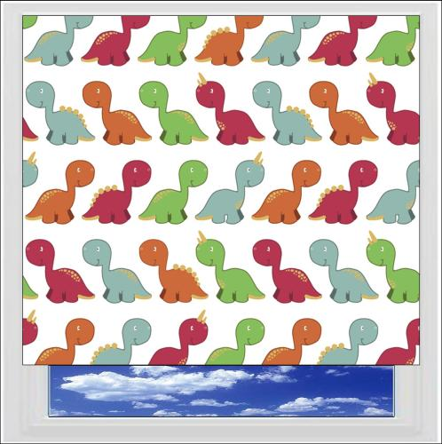 Dinosaurs Primary blackout roller blind
