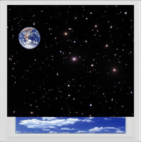 Earth  Space Digitally Printed Photo Roller Blind