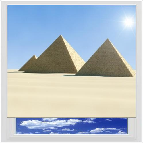 Egyptian Pyramids Digitally Printed Photo Roller Blind
