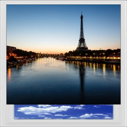Eiffel Tower in Paris Digitally Printed Photo Roller Blind