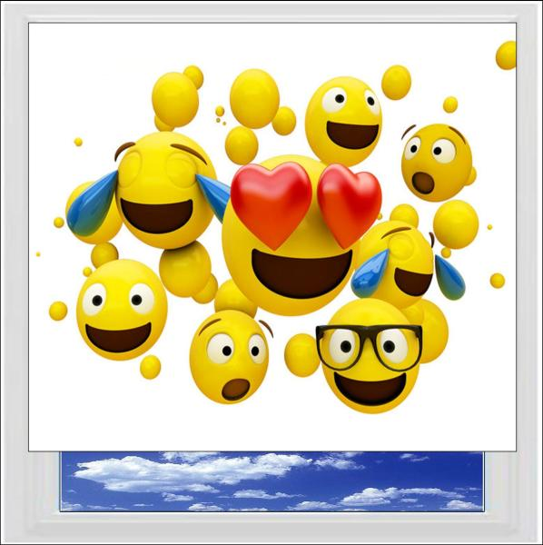 Emoji Digitally Printed Photo Roller Blind
