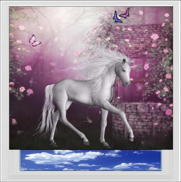 Enchanted Unicorn Digitally Printed Photo Roller Blind