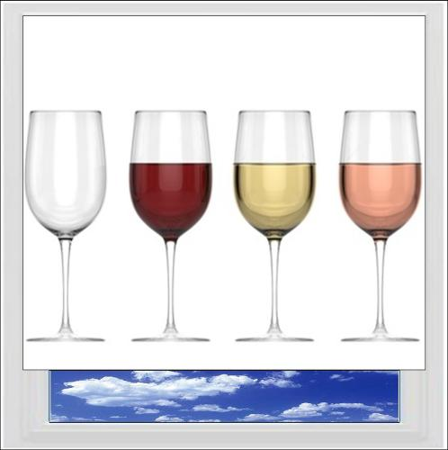 Fancy A Glass Of Wine? Digitally Printed Photo Roller Blind