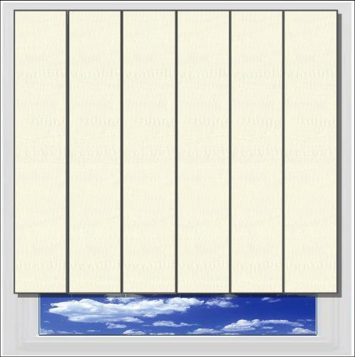 Fiesta Cream vertical blind