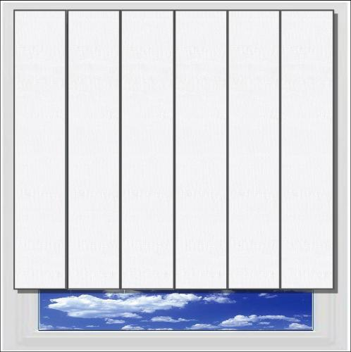 Fiesta White vertical blind