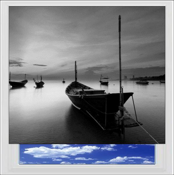 Fishing Boat Digitally Printed Photo Roller Blind