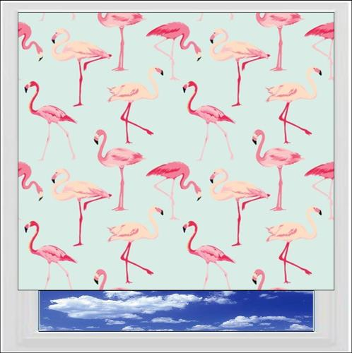 Flamingo Digitally Printed Photo Roller Blind