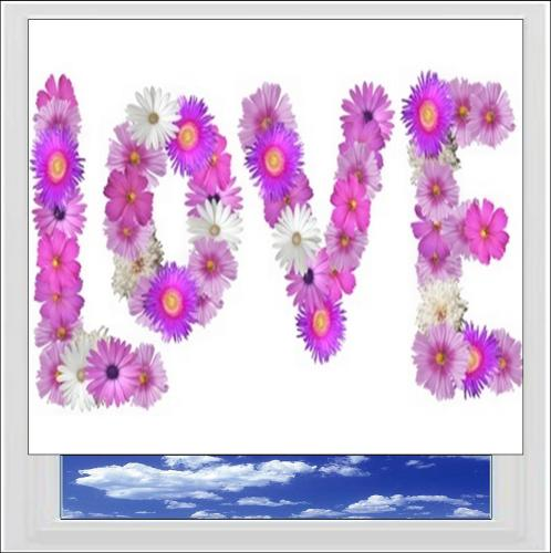 Flowers Of Love Digitally Printed Photo Roller Blind