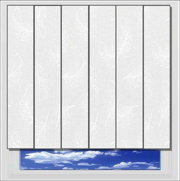 Flutter White vertical blind