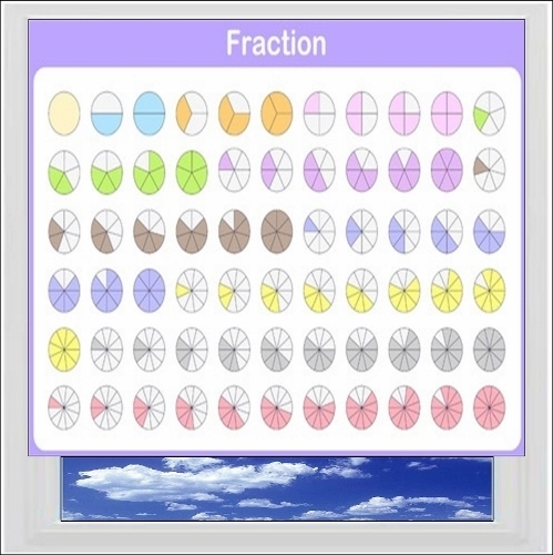 Fractions Digitally Printed Photo Roller Blind