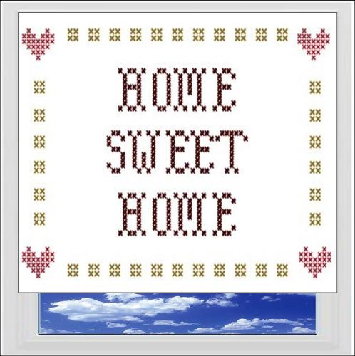 Home Sweet Home Digitally Printed Photo Roller Blind