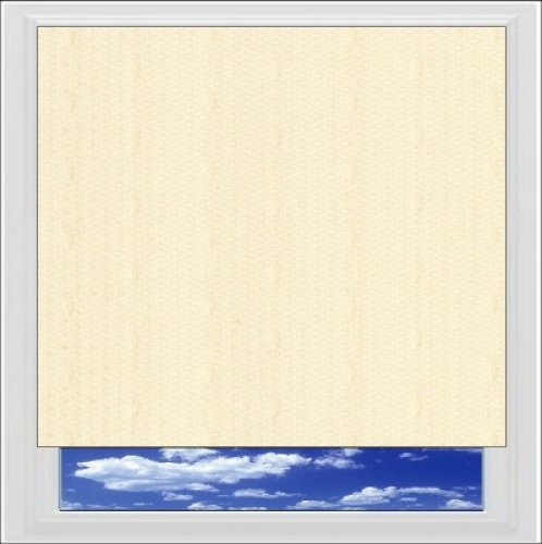 Java Cream roller blind