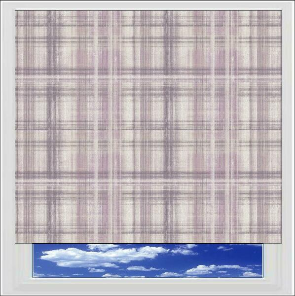Kinross Heather Roller Blind Printed And Patterned