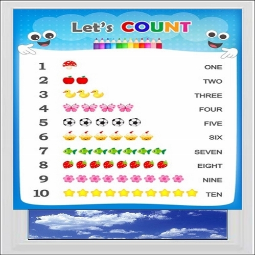 Lets Count Digitally Printed Photo Roller Blind