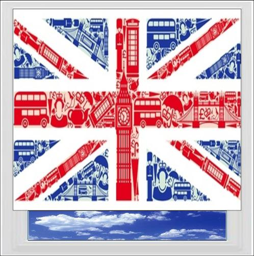 London British Flag Digitally Printed Photo Roller Blind