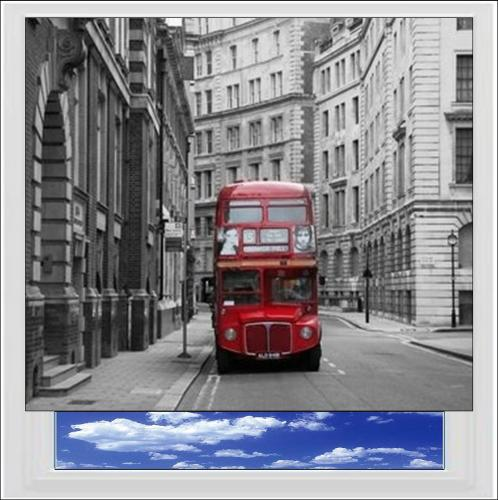 London Bus Digitally Printed Photo Roller Blind