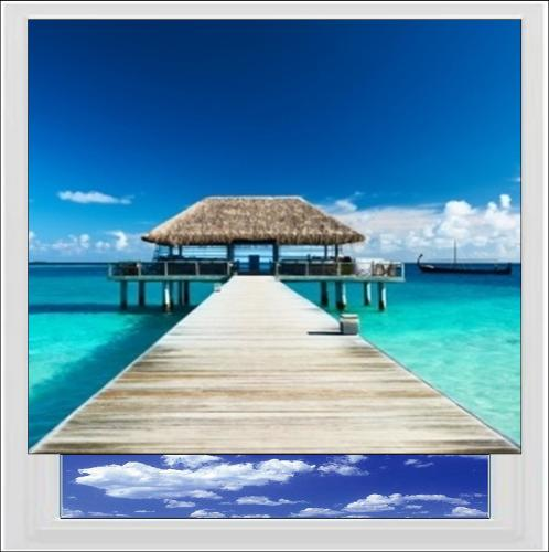 Maldives Jetty Digitally Printed Photo Roller Blind