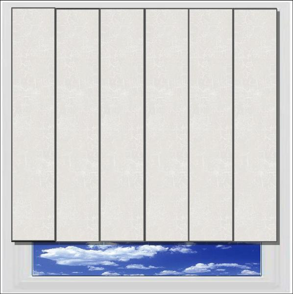 Metz White PVC Vertical Blind