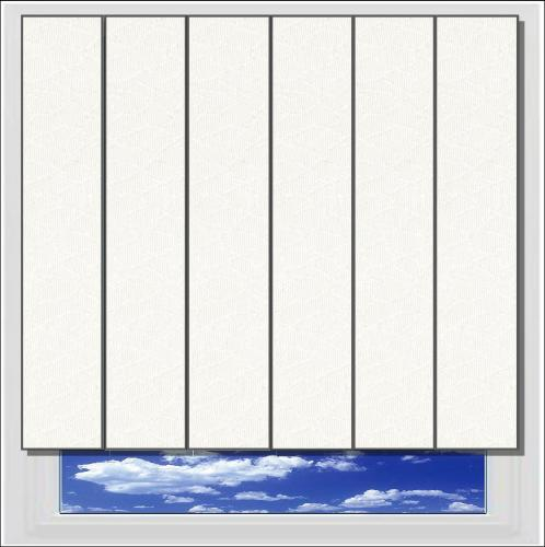 Monarch White vertical blind