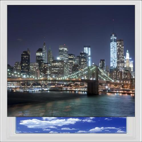 New York City at Night Digitally Printed Photo Roller Blind