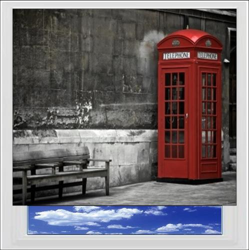 Red Telephone Box Digitally Printed Photo Roller Blind