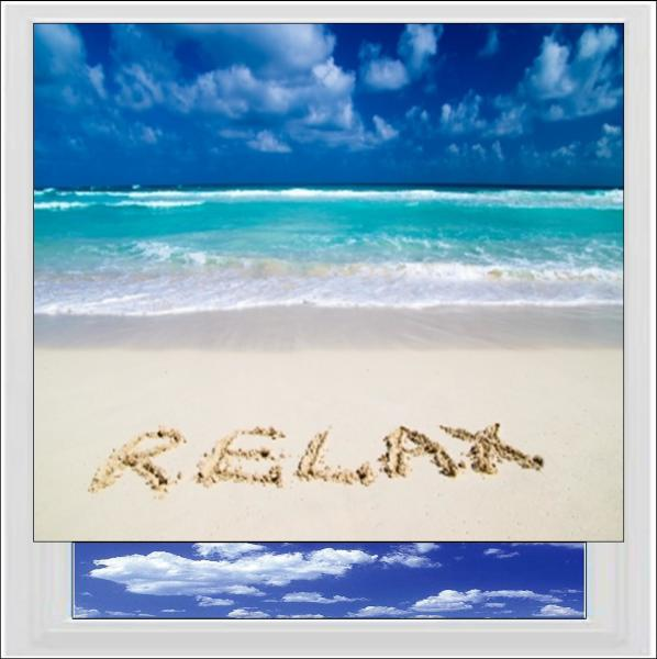 Relax on the Beach Digitally Printed Photo Roller Blind