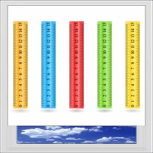 Rulers Digitally Printed Photo Roller Blind