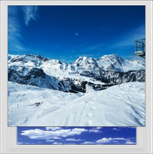 Snow Covered Mountains Digitally Printed Photo Roller Blind