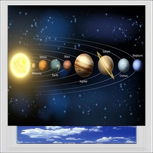Solar System Digitally Printed Photo Roller Blind