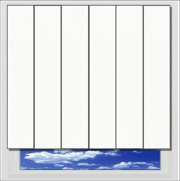 Splash Frost vertical blind