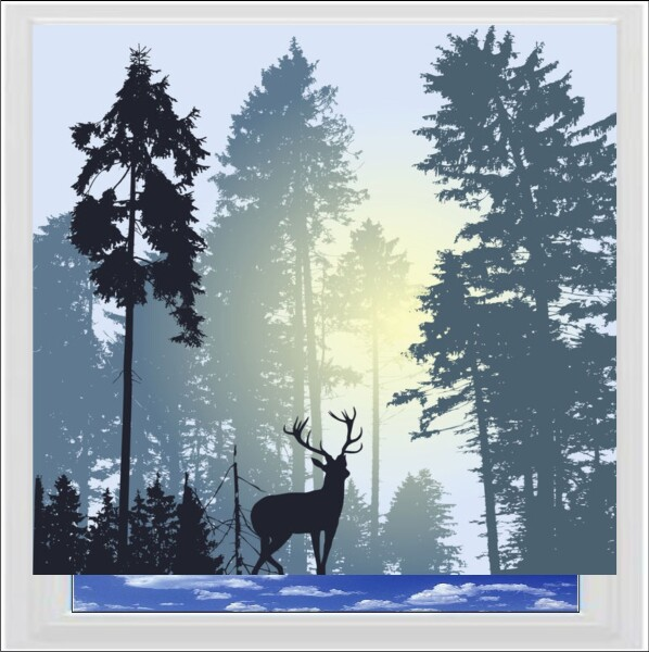 Stag Silhouette Digitally Printed Photo Roller Blind