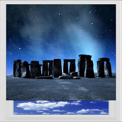 Stonehenge at Night Digitally Printed Photo Roller Blind